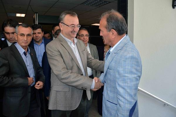 AK Parti heyetine sıcak karşılama