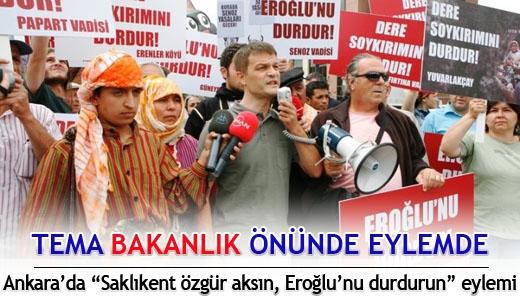 Fethiye  TEMA  Ankara'da  Eylemde