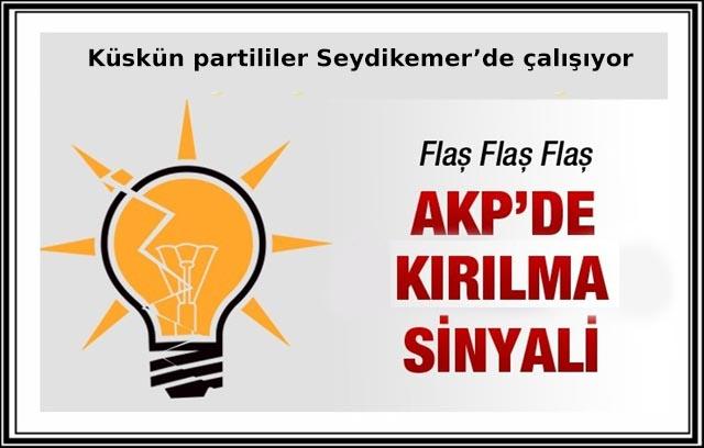 AK Parti'nin küskünleri Seydikemer'de çalışıyor