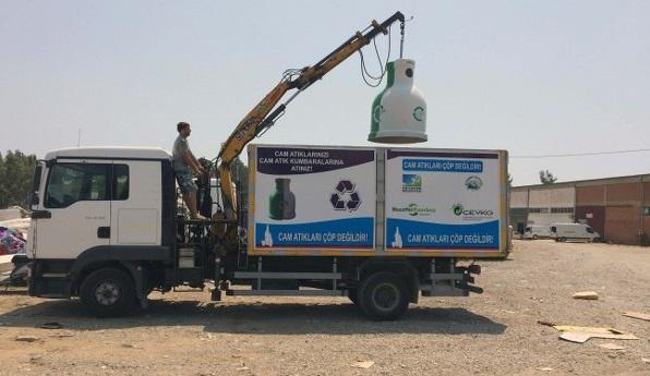 Cam atıklar için özel proje