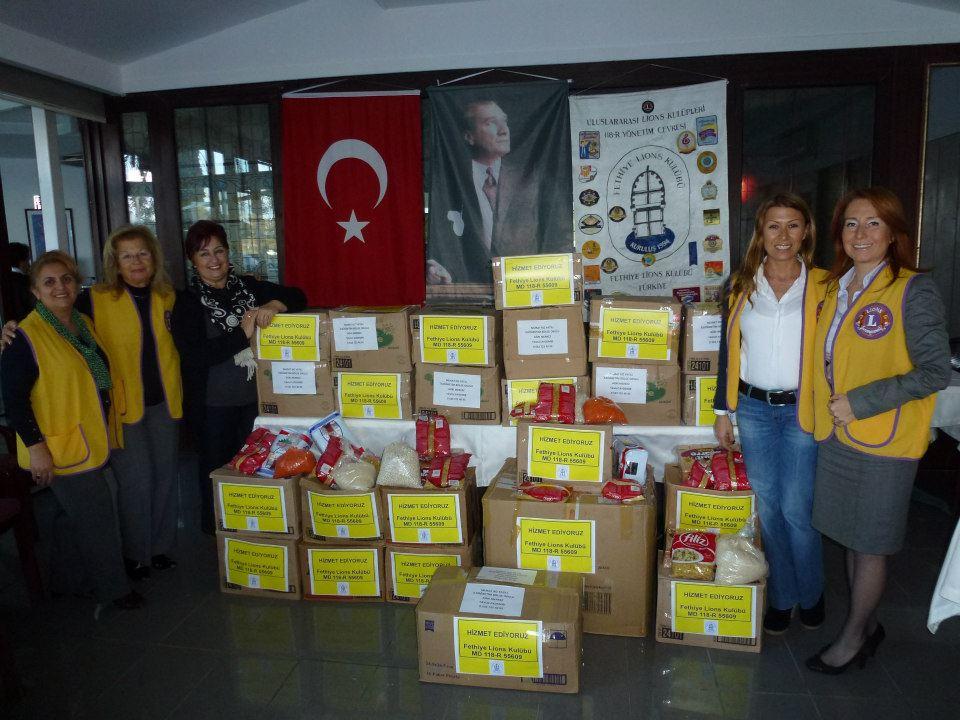 Fethiye Lions Kulübü'nden Açlığı Hafifletme Projesi
