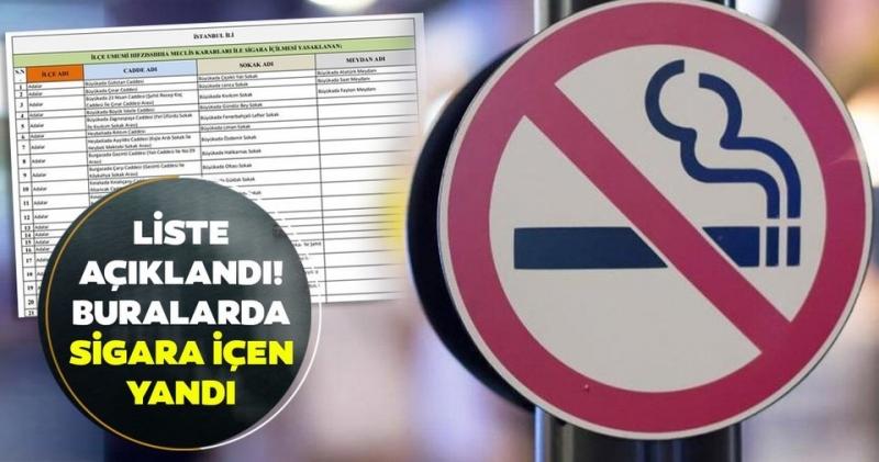 Dikkat Fethiye'de bu sokak ve caddelerde sigara içmek yasak