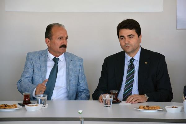 DP Genel BAşkanı, Saatcı'yı ziyaret etti
