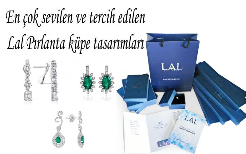 En değerli hediyeler için Lal Pırlanta küpe modelleri