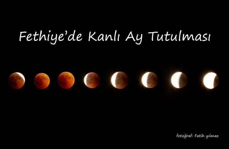 Fethiye'de kanlı ay tutulması