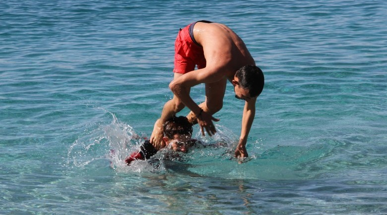 Fethiye'de şubat ayında deniz keyfi