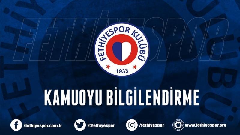 Fethiyespor'da 4 futbolcuda Coronoavirüs Tespit Edildi