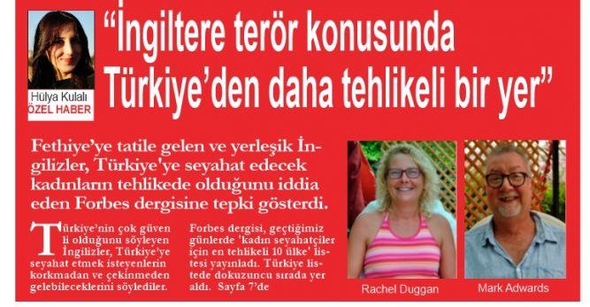 """""""İngiltere terör konusunda Türkiye'den daha tehlikeli bir yer"""""""