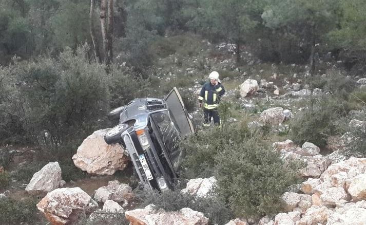 Kaza hafif atlatıldı