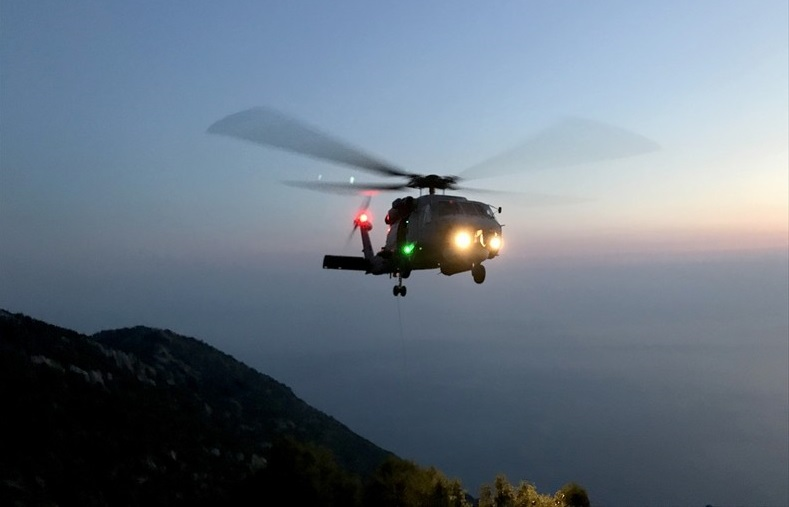 Macar Paraşütçü Askeri Helikopterle Kurtarıldı