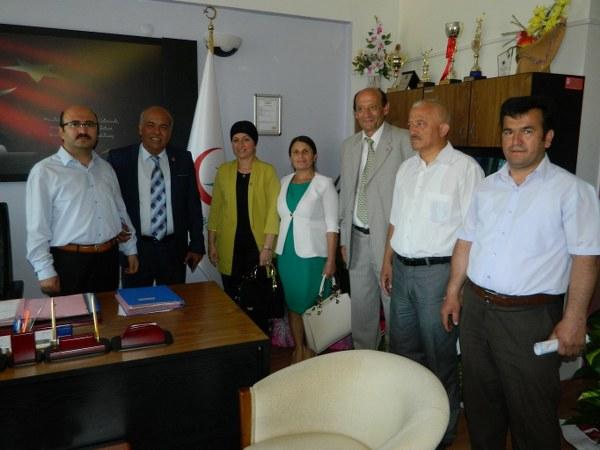 MHP heyeti başhekimi ziyaret etti