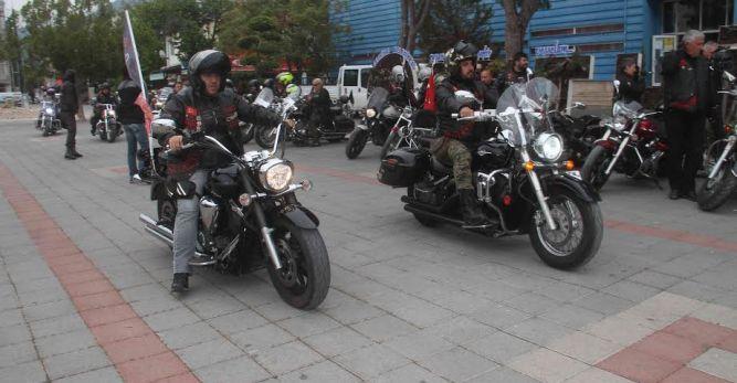 Motosiklet tutkunları Fethiye'de buluştu
