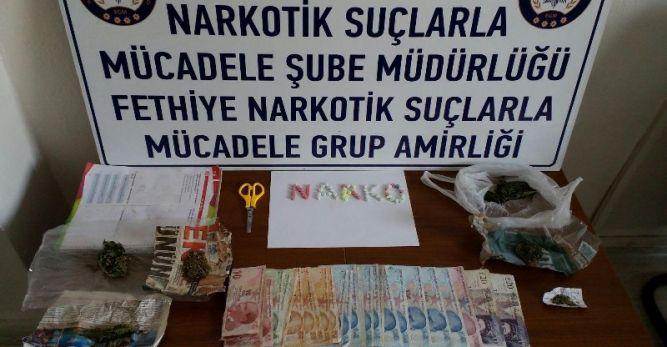 Okul hizmetlisi uyuşturucu satıcısı gözaltına alındı
