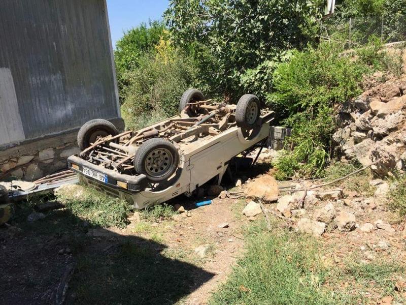 Safari aracı kaza yaptı: 4 yaralı
