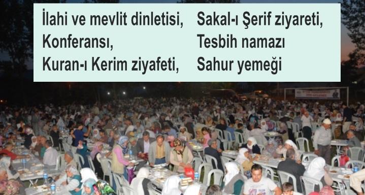 Seki Çayırı'nda 7 bin kişilik Kadir gecesi programı