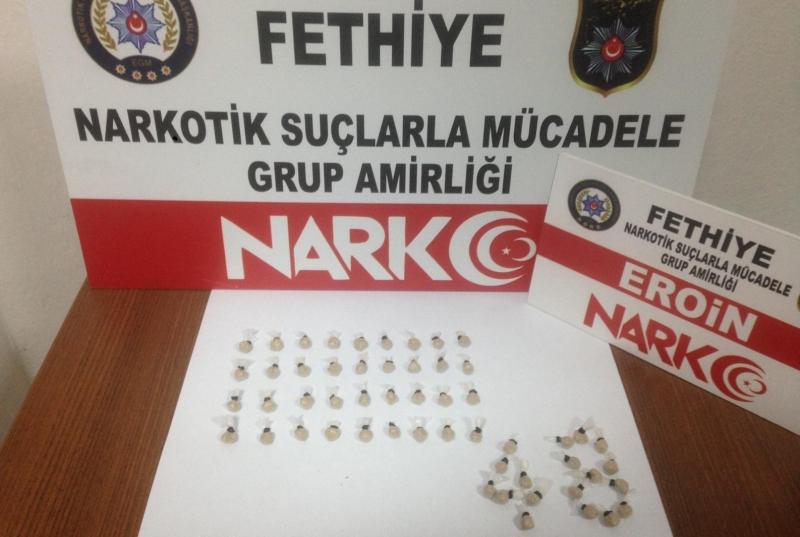 Üniversite Öğrencisi kadın, Fethiye'ye İç Çamaşırında Eroin Sokmaya Çalışırken Yakalandı