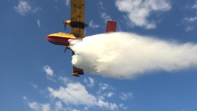 Yangın Helikopteri Muhabirleri Tam 12\'den Vurdu