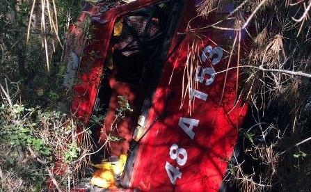 Yangına giden arazöz devrildi: 5 işçi yaralı