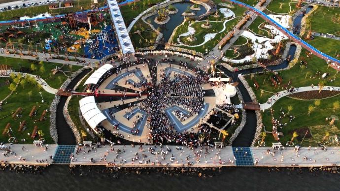 Bölgenin en büyük parkı hizmete açıldı