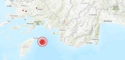 5,1 şiddetindeki deprem Fethiye'de korkuya sebep oldu