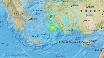 Fethiye'de deprem meydana geldi