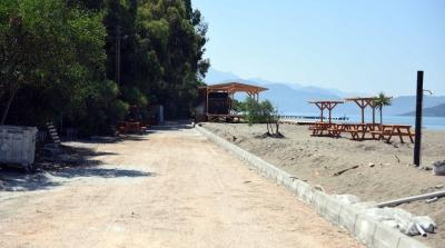 Karaot Plajı'nda çalışmalar hızla devam ediyor