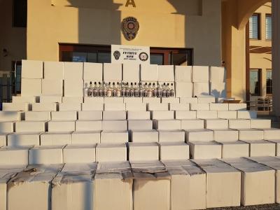 Ölüdeniz'de 1500 şişe sahte içki yakalandı