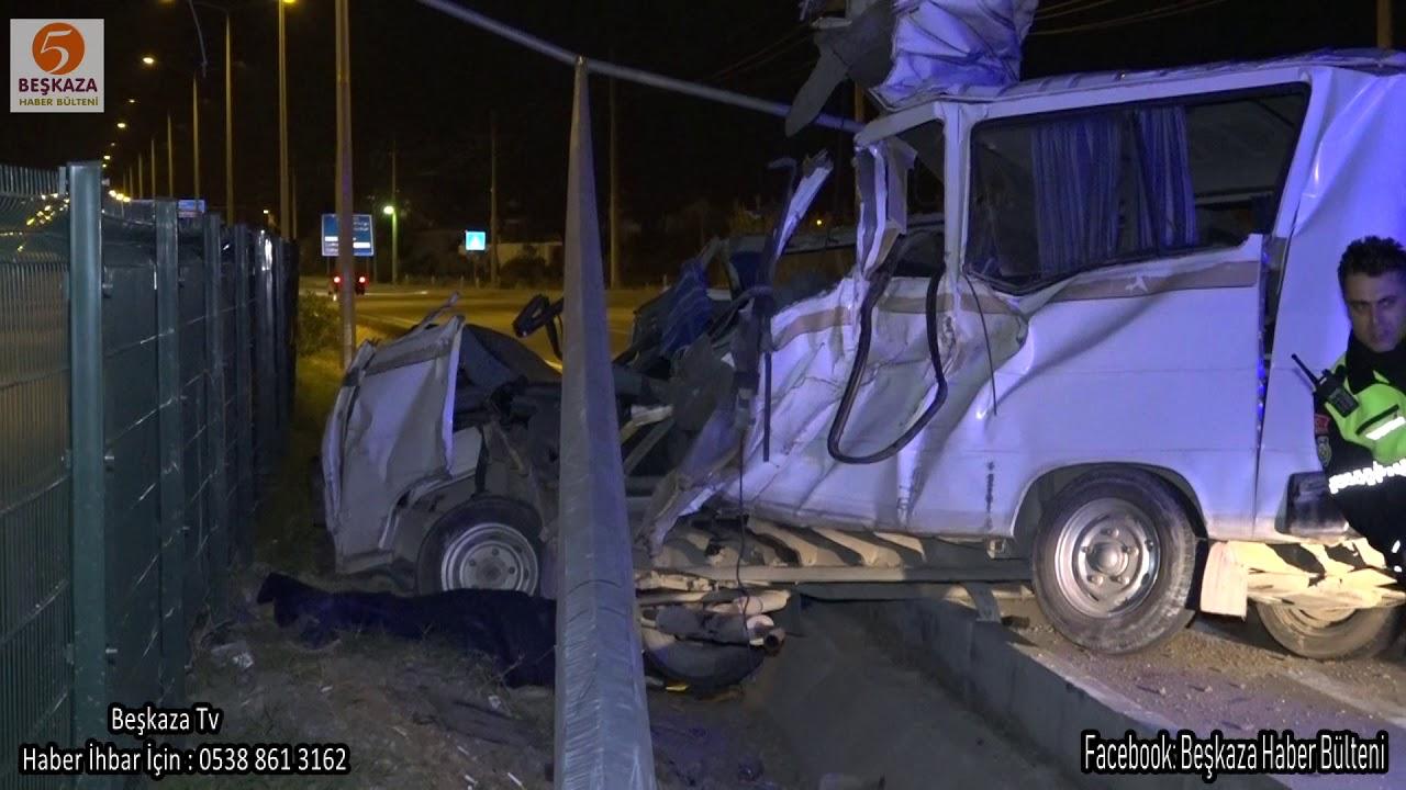 Feci Minibüs Kazasında 2 Kişi Öldü